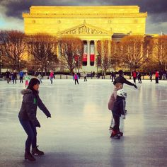 Winter in Washington DC. Excited for iceskating at the National Sculpture Garden when we go in Dec!