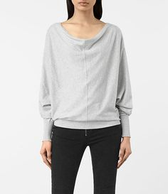 Womens Elgar Cowl Neck Sweater (Grey Marl) - product_image_alt_text_1