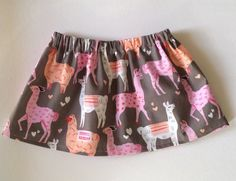 Valentine's hair clip and skirt set Llama love by ShopIsAPrincess