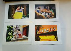Walt Disney Snow White and the Seven Dwarfs Lithographs 2001 Set of 4