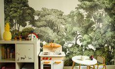 papier peint dans la chambre d'enfant