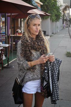 These boots are made for walkin'.. 5050 over the knee black suede boots by Stuart Weitzman, Zara shorts, S-Twelve oversized sweater, Louis Vuitton scarf, Chanel sunglasses and handbag and Juliette Jake Cardigan sweater.  http://minnieme.blogspot.com http://instagram.com/majamalnar http://majascloset.tumblr.com http://www.majamalnar.com