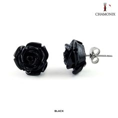 Chamonix Stainless Steel Rose Studs - Assorted Colors at Savings off Retail! Birth Month Flowers, Coming Up Roses, Studs, Cufflinks, Fine Jewelry, Stainless Steel, Stud Earrings, Retail, Stuff To Buy