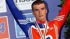 Hoping to remain in cycling after retirement.  (Photo: Jonny Bellis on the podium after winning a bronze medal in the 2007 Under-23 World Championships)
