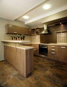 Modern Wood Cabinets modern kitchen design philippines : small kitchen design