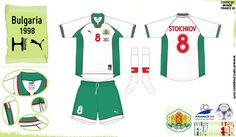 Bulgaria home kit for the 1998 World Cup Finals.