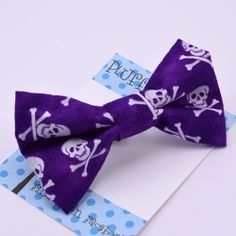 purple skulls bow tie - Pluff Bows Fabric Bows, Boutique Bows, Bow Ties, Skulls, Hair Bows, Purple, Accessories, Style, Swag