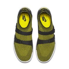 check out b51b9 b5eee Nike Air Sock Racer Ultra Flyknit Men s Shoe - Yellow Nike Socks, Old Shoes,