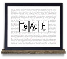 Teacher gift periodic table of elements teacher with science teacher gift periodic table geeky by neuronsnotincluded 1800 urtaz Choice Image