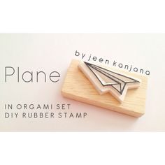 Plane ; Diy Rubber Stamp    #rubberstamp #stamp #rubber Diy Wrapping Paper, Diy Paper, Origami, Eraser Stamp, Stamp Carving, Handmade Stamps, Pencil Eraser, Stamp Printing, Self Inking Stamps