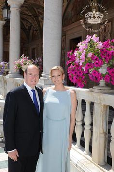 Prince Albert of Monaco 'very proud' of Charlene, his South African wife, as they celebrate first anniversary - Our Princess Princess Grace Children, Princess Grace Kelly, First Anniversary Pictures, Wedding Anniversary, Monte Carlo, After 5 Attire, Prince Albert Of Monaco, Princess Diana Wedding, Monaco Royal Family