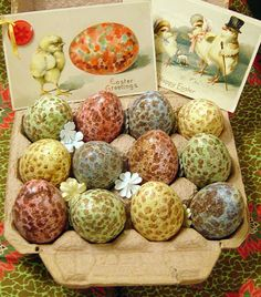 Easter Eggs and vintage cards