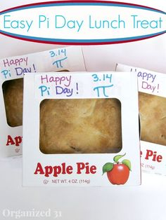 Easy Pi Day Treat - Organized 31 A fun way to celebrate Pi Day for the math nerds in your life.  Also makes a great teacher gift or lunch surprise for your child.