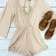All Of You Romper {Blush}