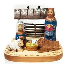 Russian Wooden Hand Painted Carved Nativity Scene Set Christmas Decoration 5 34 Inch >>> Check out the image by visiting the link.