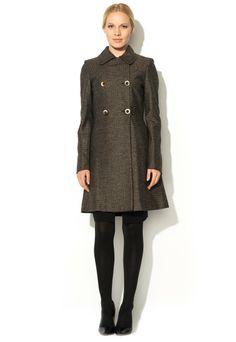 Fashion Days - ИЗБРАНИ ПРОДУКТИ ЗА ВАС - Tarly Brown Geometrical Pattern Coat