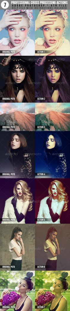 7 Professional Cross Processing Photo Actions