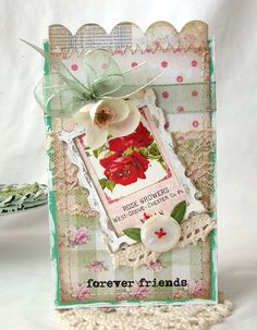 Forever Friends Handmade card by iralamijashop on Etsy, $7.50