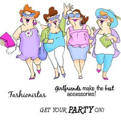 Our Newest Release of our popular Girlfriends line! Introducing our Uptown Girls Set! includes three hilarious sayings!
