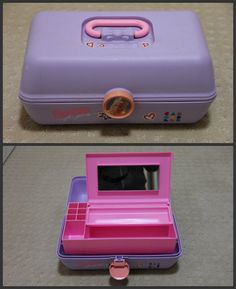 I want a caboodle again!!!   Caboodle Barbie for girls vintage 90s purple makeup organizer case ($29.99) - Svpply