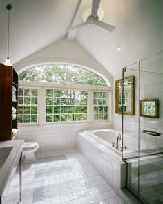 Split Oaks Farm bath - Farmhouse - Bathroom - Boston - LDa Architecture & Interiors