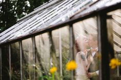 This shot through the windows of a greenhouse is uniquely perfect for fall weddings!