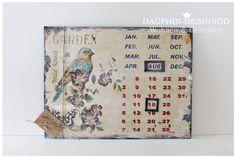 Kalender Jahreskalender Magnetkalender Metall von  Dauphin-DesignDD  auf DaWanda.com
