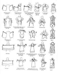 Instructions how to wrap vintage silk sari multi-layer reversable wrap skirt Milliana Designs