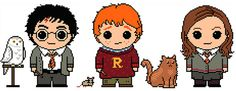Hey, I found this really awesome Etsy listing at https://www.etsy.com/listing/161402428/harry-potter-golden-trio-and-pets-3-pack