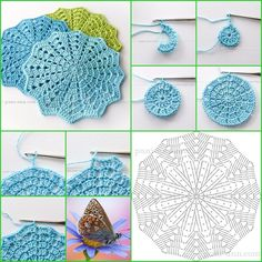 Crochet Pillow Patterns Part 11 - Beautiful Crochet Patterns and Knitting Patterns Crochet Pincushion, Crochet Pillow Pattern, Crochet Cardigan Pattern, Crochet Doily Patterns, Crochet Diagram, Crochet Motif, Crochet Doilies, Crochet Flowers, Pillow Patterns