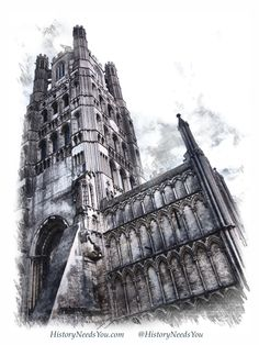 My sketch of Ely Cathedral