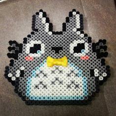 Totoro perler hama cutie with bowtie by chikabamxx
