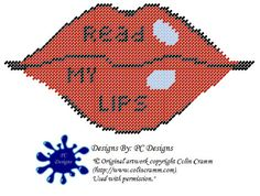Hey, I found this really awesome Etsy listing at https://www.etsy.com/listing/126397653/read-my-lips-wall-hanging-plastic-canvas
