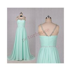 Mint Beaded Long Prom Dresses Formal Prom Dresses Evening Dresses... ($118) ❤ liked on Polyvore featuring dresses, black, women's clothing, long dresses, black floor length dress, prom dresses, black dress and long homecoming dresses