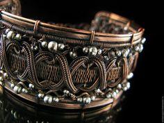 Wire Wrapped Bracelet, Metal Bracelets, Wire Jewelry Designs, Handmade Jewelry, Copper Jewelry, Jewlery, Beads And Wire, Rings For Men, Jewelry Making