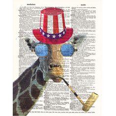 Giraffe- Animal- Glasses- Giraffe Decor- Poster Art Print Giraffe... ($12) ❤ liked on Polyvore featuring home, home decor, wall art, giraffe wall art, animal posters, giraffe home decor, giraffe poster and animal wall art