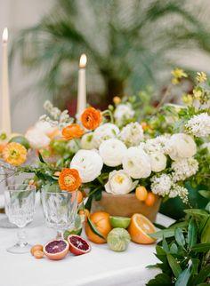La Tavola Fine Linen Rental: Tuscany White   Photography: Rebecca Yale Photography, Event Planning, Design & Floral Design: Twofold LA