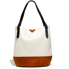 MADEWELL The Essex Tote In Colorblock ($218) ❤ liked on Polyvore