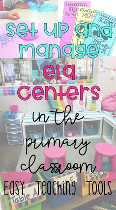 I've said it for years, but ELA centers are the most peaceful time of the day. It's the time of the day when we're most productive. Let me help you set up and manage ELA Centers in your primary classroom. Reading Centers, Reading Workshop, Literacy Centers, Reading Groups, Reading Strategies, 2nd Grade Classroom, Primary Classroom, Classroom Setup, Classroom Resources