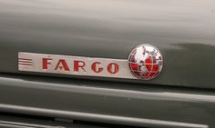 1941 Fargo pickup (by Richard Spiegelman) Fargo was a brand of truck manufactured by the Chrysler Corporation. In general terms, Fargo trucks were a mere rebadging of Dodge trucks models. Chrysler Trucks, Dodge Chrysler, Dodge Trucks, Pickup Trucks, Fargo Truck, Car Badges, Old Signs, Hood Ornaments, Old Ads