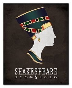 William Shakespeare: Antony & Cleopatra Literary Poster