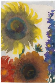 Emil Nolde, Sunflowers - 1935