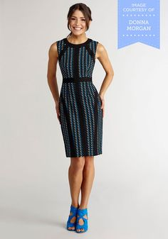 Office You Can't Refuse Dress in Geometric | Mod Retro Vintage Dresses | ModCloth.com