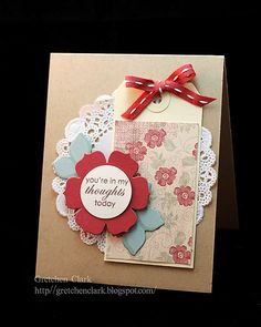 card with doily by Gretchen Clark