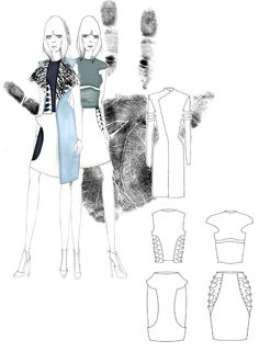 Fashion Sketchbook - fashion illustrations; fashion drawings; fashion portfolio // Alena Kremleva