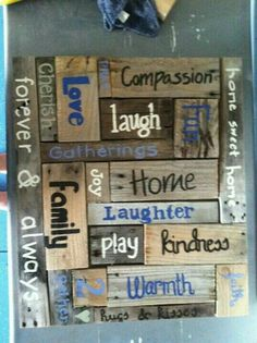 Another version of the inspiration wall. Pallet sign Another version of the inspiration wall. Pallet sign The post Another version of the inspiration wall. Pallet sign appeared first on Pallet Ideas. Pallet Art, Pallet Signs, Pallet Projects, Diy Projects, Pallet Ideas, Wood Ideas, Pallet Boards, Pallet Wood, Inspiration Wand