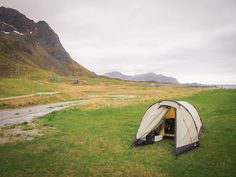 Snapshots From a 10,000-Kilometer Bike Ride - Sleeping Next to a Mountain Range on the Lofoten Islands