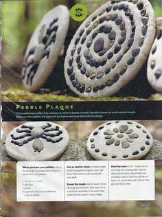 Pebble plaque (maybe paint the rocks, write names, or first letter of names, put a hand print in the middle)