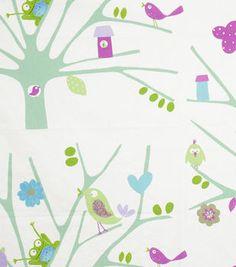 Home Decor Print Fabric-Eaton Square Birdseye  Lilac