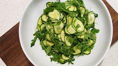 zucchini salad in bowl